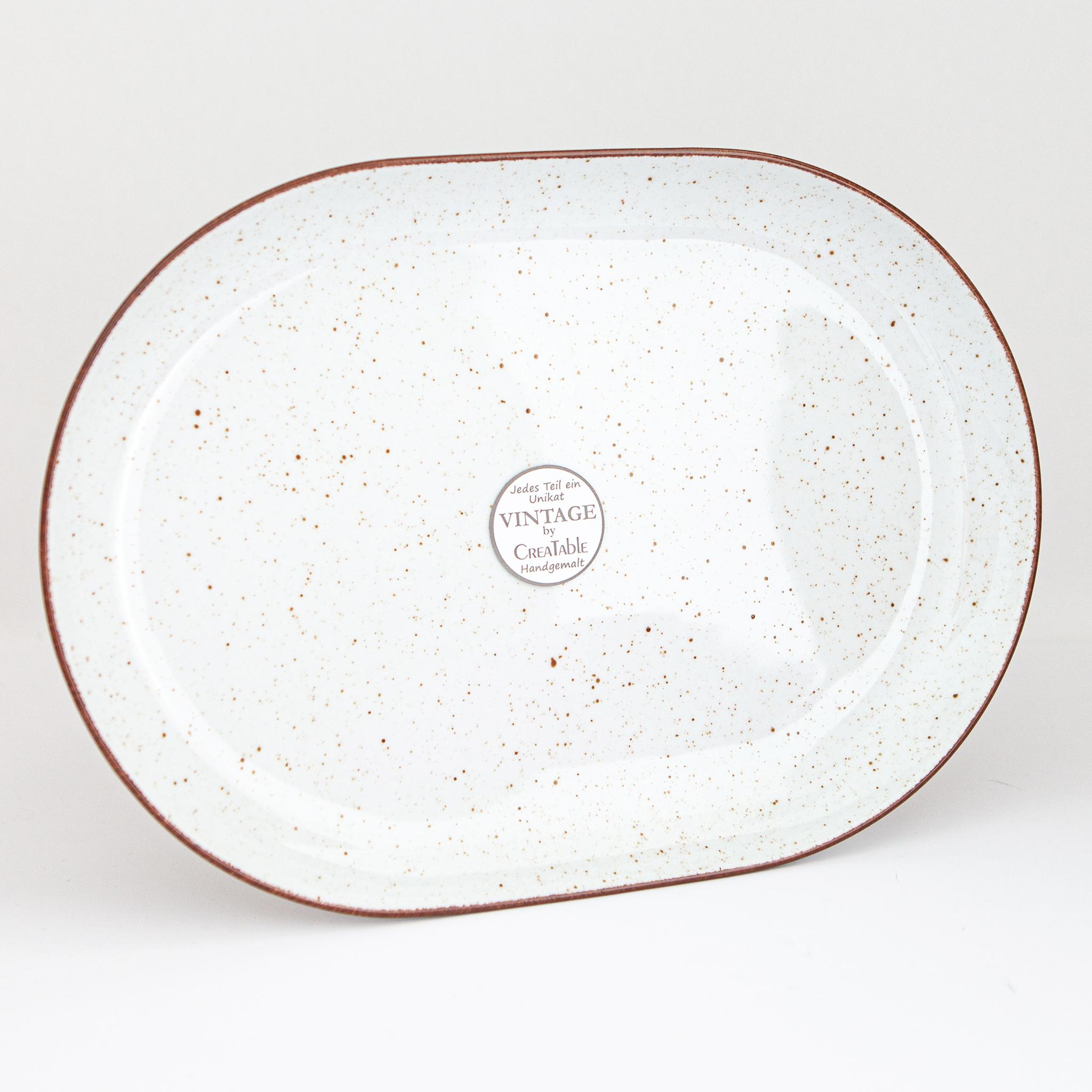 Creatable Platte Vintage Nature Geschirr Porzellan